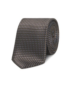 Neck Tie Brown with Blue Dot Pattern