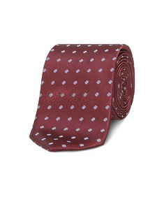 Neck Tie Deep Red with Spot Pattern