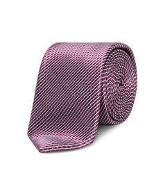Neck Tie Deep Red Geometric Lines
