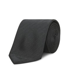 Neck Tie Black Textured