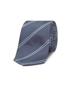 Neck Tie Navy with Multi Tone Diagonal