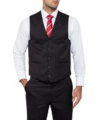 Van Heusen Mens Performa Suit Vest Charcoal