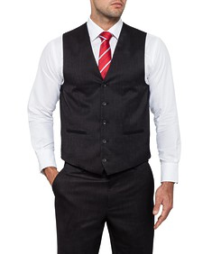 Classic Relaxed Fit Suit Vest Charcoal