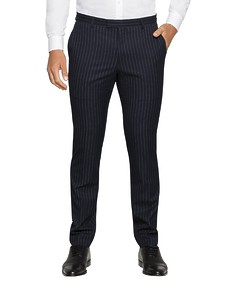Super Slim Fit Suit Pant Navy Pin Stripe