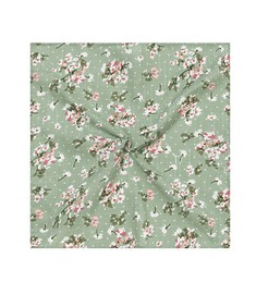 Pocket Square Green Floral