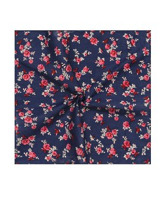 Pocket Square Navy Roses