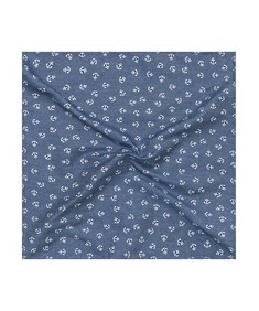 Pocket Square Blue Anchors