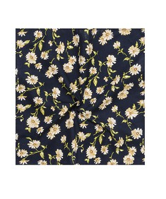 Pocket Square Navy Daisies