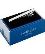 Van Heusen Mens Tie Bar Silver Lined