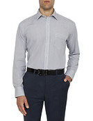 Mens Classic Fit Shirt Black and White Stripe