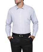 Mens Classic Fit Shirt Blue Black Stripe