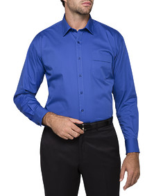 Mens Classic Fit Shirt Solid Cobalt