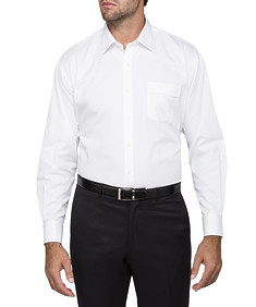 Mens Classic Fit Shirt White Twill