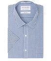 Classic Relaxed Fit Short Sleeve Shirt Indigo Check