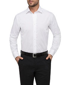 Mens Euro Fit Shirt White Solid