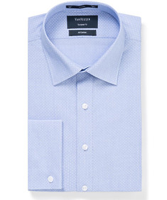 Mens Euro Fit Shirt Blue with White Dot