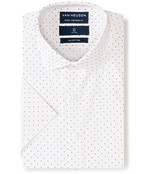 Euro Tailored Fit Short Sleeve Shirt Multi Dot