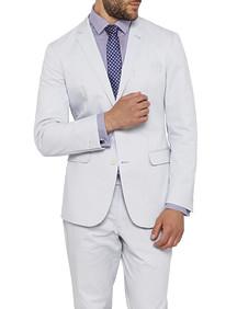 Mens Slim Fit Cotton Suit Jacket Ice Blue