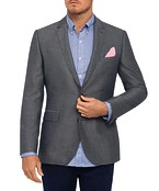 Mens Casual Elbow Patch Jacket Grey