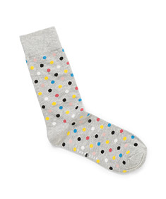 Men's Socks Grey with Multi Colour Spots