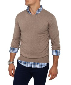 Mens Casual Knitwear Crew Neck Pullover