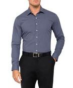 Mens Slim Fit Shirt Navy Star Print