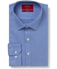 Slim Fit Shirt Blue Hounds Tooth