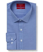Slim Fit Shirt Solid Colour Textured