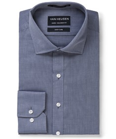 Euro Tailored Fit Shirt Calm Navy Textured