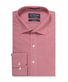 Euro Tailored Shirt Red Mini Check