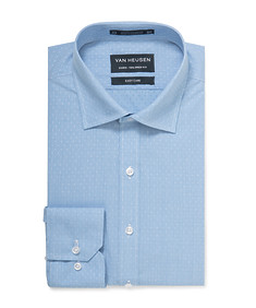 Euro Tailored Shirt Blue Dobby Dot