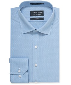 Euro Tailored Shirt Blue Dobby Dot