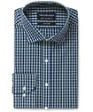 Euro Tailored Fit Shirt Bottle Green Check