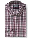 Euro Tailored Fit Shirt Ox and Black Gingham Check