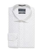 Euro Tailored Shirt White Leaf