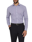 Mens Slim Fit Shirt Mulberry Check
