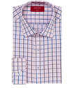 Slim Fit Shirt Pink Blue Large Check