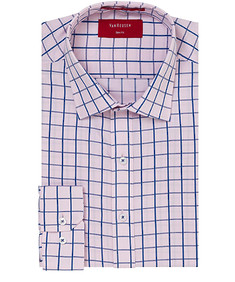 Slim Fit Shirt Pink Blue Large Check