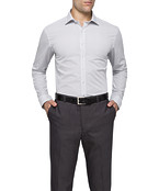 Mens Slim Fit Shirt Navy Dot Print