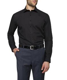 Mens Slim Fit Shirt Deep Navy with Dot Print