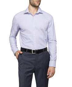 Mens Slim Fit Shirt Lilac Diamond Spot Print