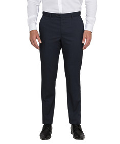 Men's Slim Fit Solid Colour Business Trousers