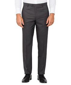 Mens Slim Fit Business Trouser Charcoal Birdseye