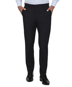 Mens Slim Fit Trousers Ink Birdseye