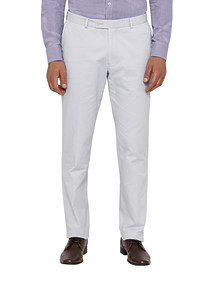 Mens Slim Fit Cotton Suit Pant Ice Blue