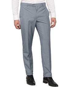Mens Slim Business Trousers Blue
