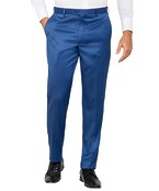 Mens Slim Fit Business Trousers Cobalt Twill