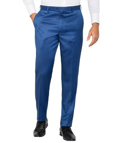 Mens Slim Fit Business Trousers Cobolt Twill