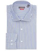 Slim Fit Shirt Bold Blue Vertical Stripe