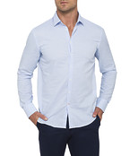 Mens Casual Shirt Blue